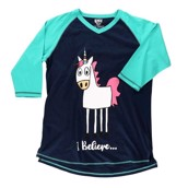 LazyOne WomensI Believe Unicorn PJ Tall T Shirt Adult