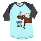 LazyOne Womens Born to be Wild PJ Tall T Shirt Adult