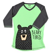 LazyOne Womens Beary Tired PJ Tall T Shirt Adult