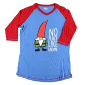 LazyOne No Place Like Gnome PJ Tall T Shirt Adult