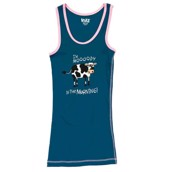 LazyOne Unisex Mooody in the Morning PJ Tank Top Adult