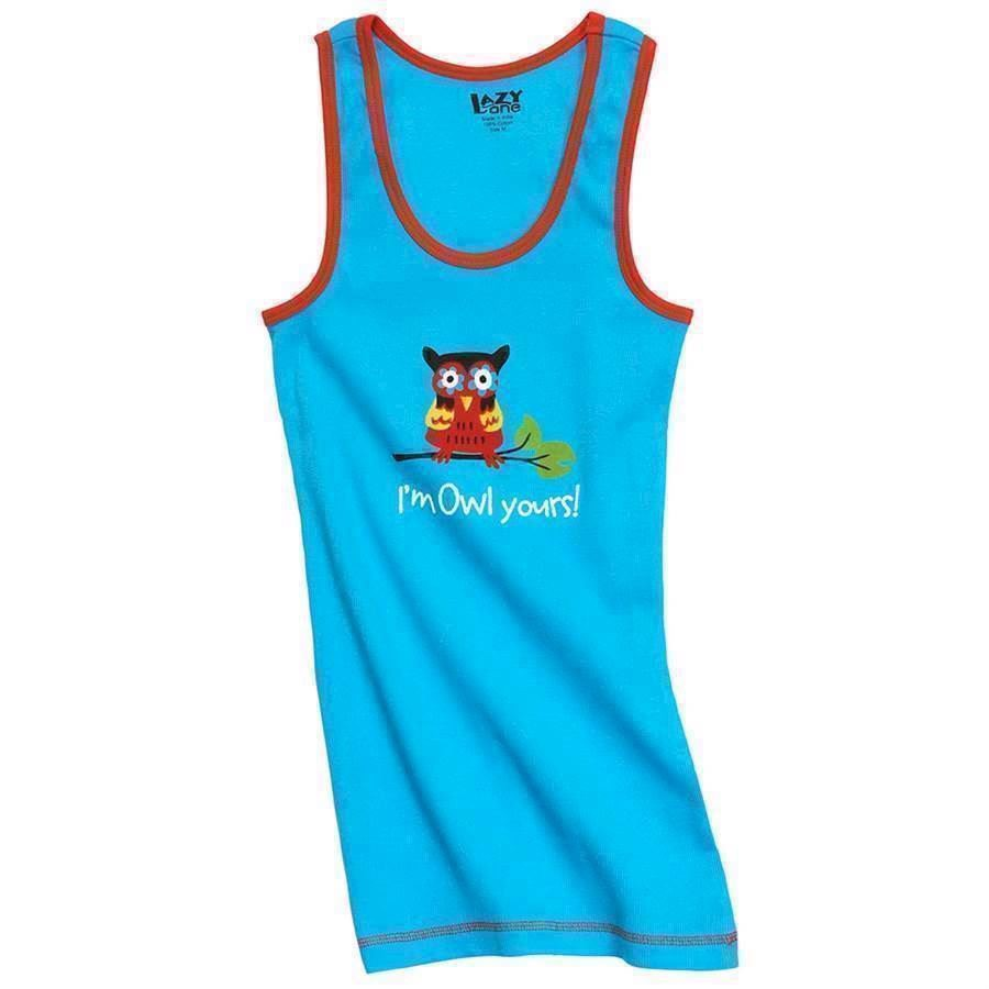 LazyOne Unisex I\'m Owl Yours PJ Tank Top Adult