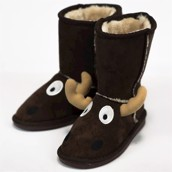 LazyOne Unisex Moose Toasty Toez Slippers