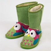 LazyOne Girls Owl Toasty Toez Slippers
