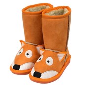LazyOne Kids Unisex Fox Toasty Toez Slippers