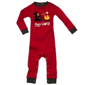 LazyOne Boys Happy Camper Infant Sleepsuit
