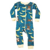 LazyOne Unisex Monkeying Around Infant Sleepsuit