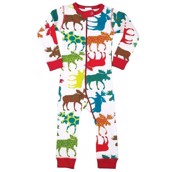 LazyOne Unisex Pattern Moose Infant Sleepsuit