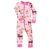 LazyOne Duck Duck Moose girl Infant Sleepsuit