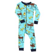 LazyOne Duck Duck Moose boy Infant Sleepsuit