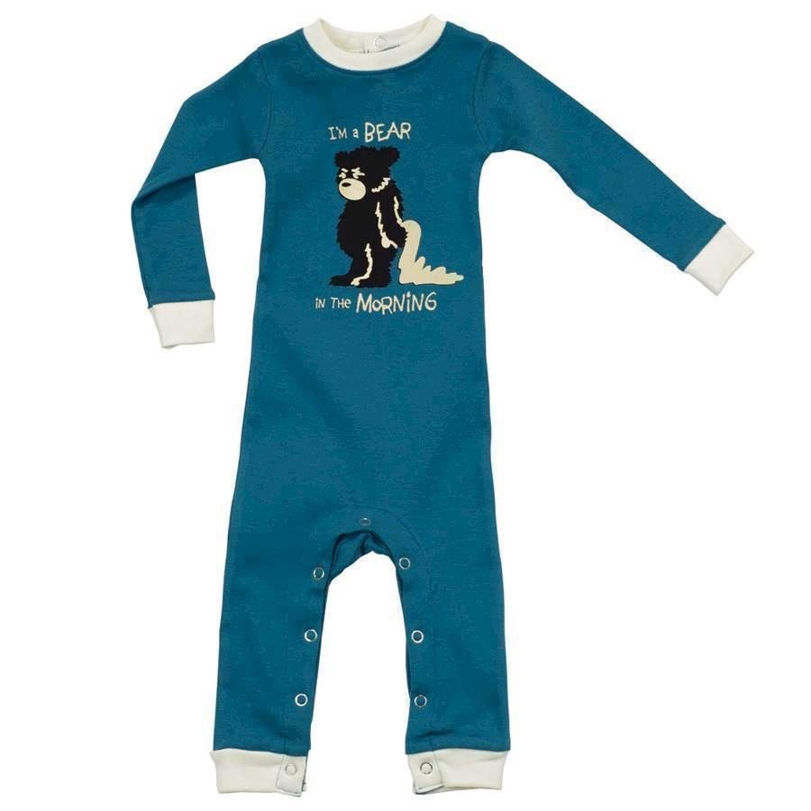 LazyOne Boys Bear In The Morning Infant Sleepsuit