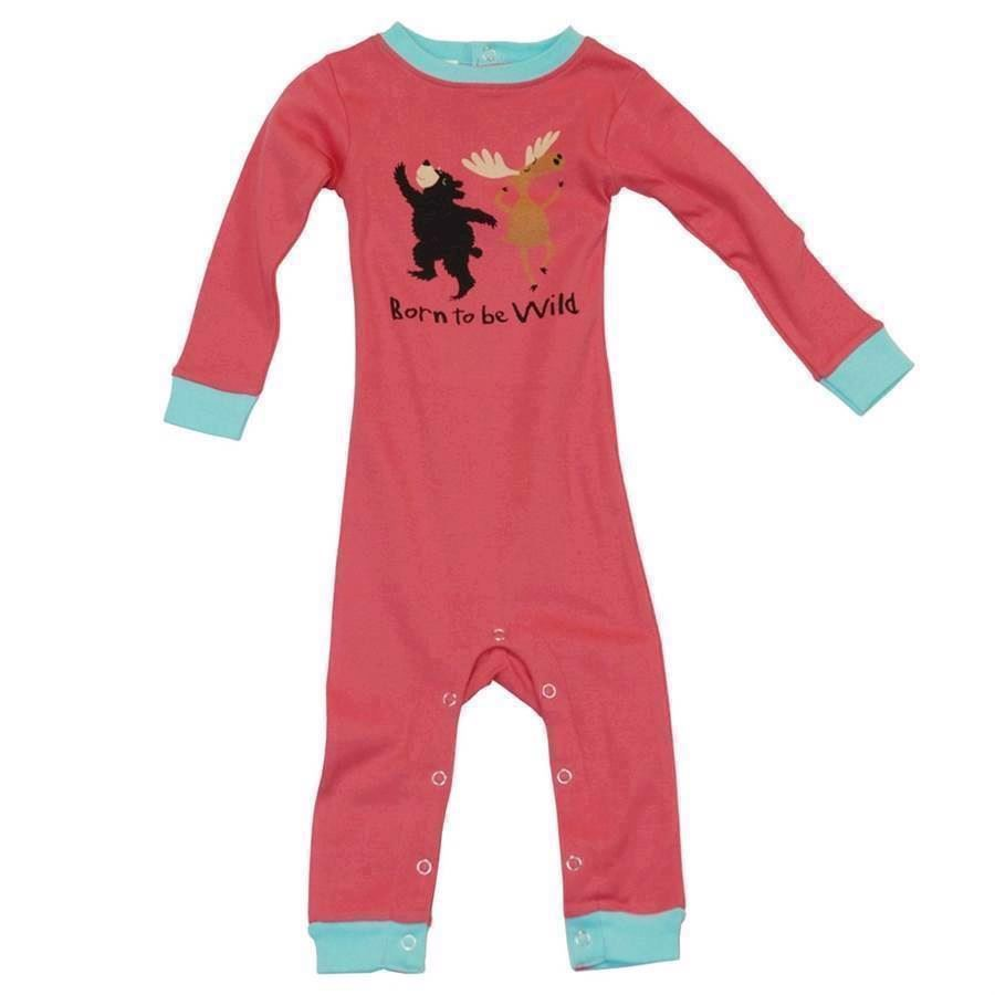 LazyOne Girls Born to be Wild Infant Sleepsuit