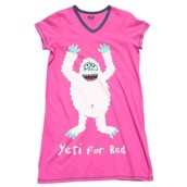LazyOne Womens Yeti for Bed Nightshirt V Neck