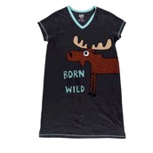 LazyOne Womens Born To Be Wild Nightshirt V Neck