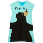 LazyOne Womens Bear Hug Iceberg Nightshirt V Neck