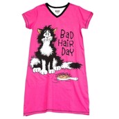 LazyOne Womens Bad Hair Day Nightshirt V Neck