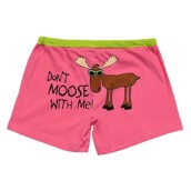 LazyOne Womens Dont Moose with Me Boxers