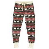 LazyOne Womens Moose Fair Isle PJ Leggings