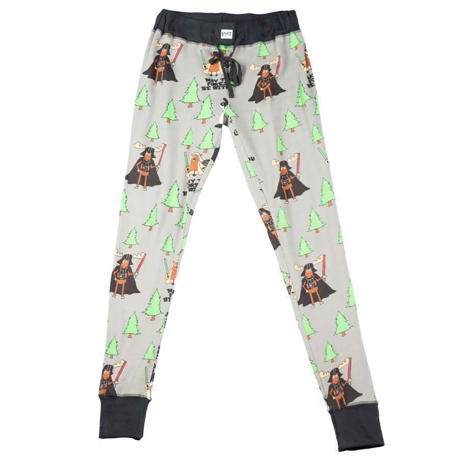 LazyOne Womens May The Forest Be With You PJ Leggings