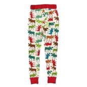 LazyOne Womens Pattern Moose PJ Leggings