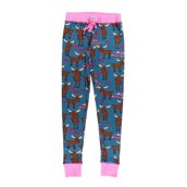LazyOne Womens Moose Kiss PJ Leggings