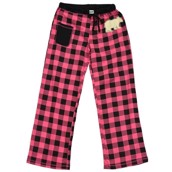 LazyOne Womens Bear Plaid Fitted PJ Trousers