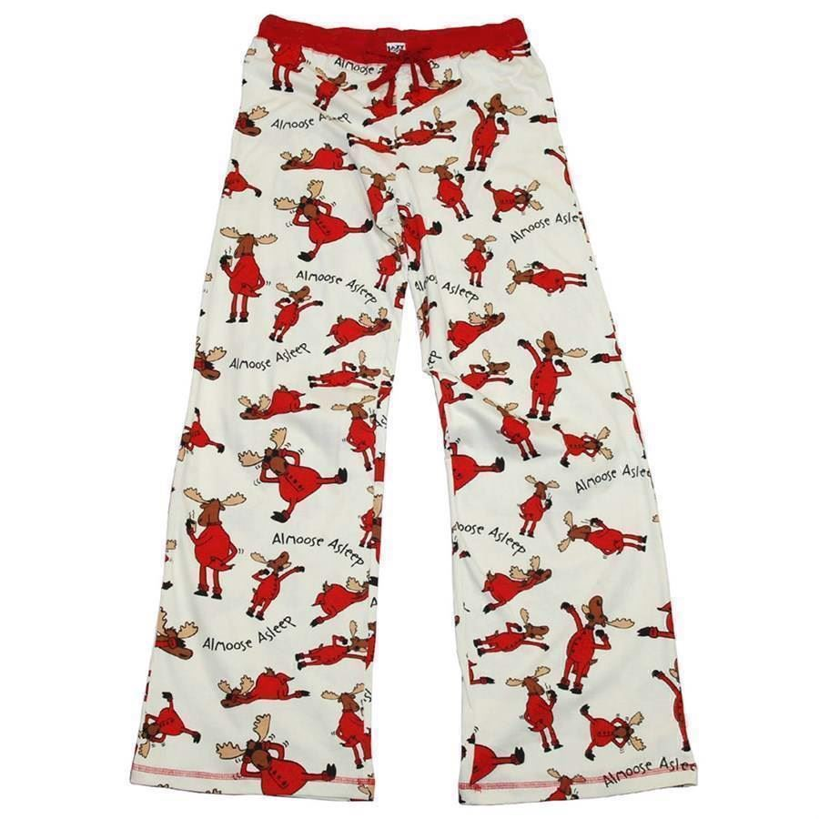 LazyOne Womens Almoose Asleep Fitted PJ Trousers