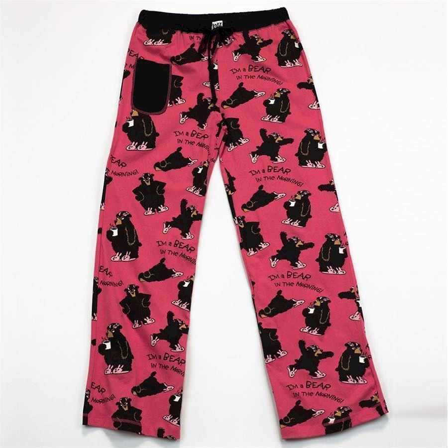 LazyOne Womens Bear in the Morning Fitted PJ Trousers