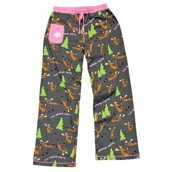 LazyOne Womens Text Moose-aging Fitted PJ Trousers