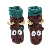 LazyOne Womens Moose Woodland Slippers
