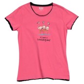 LazyOne Womens Flamingo Looong Day Fitted PJ T Shirt