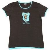 LazyOne Womens Wild Thing Monkey Fitted PJ T Shirt