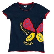 LazyOne Womens Butterfly Kisses Fitted PJ T Shirt