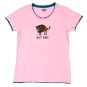 LazyOne Womens Buff Babe Fitted PJ T Shirt