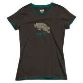 LazyOne Womens No Wake Zone Manatee Fitted PJ T Shirt