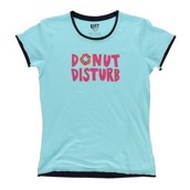 LazyOne Womens Donut Disturb Fitted PJ T Shirt