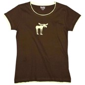 LazyOne Womens Funky Moose Fitted PJ T Shirt
