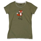 LazyOne Womens Foxy Fitted PJ T Shirt