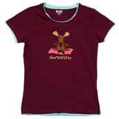 LazyOne Womens Na-Moose-te Fitted PJ T Shirt