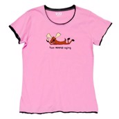LazyOne Womens Text Moose-aging Fitted PJ T Shirt