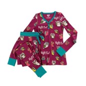 LazyOne Womens Night Owl Thermal PJ Set