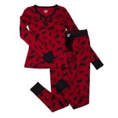 LazyOne Womens Classic Moose Thermal PJ Set