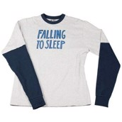 LazyOne Adult Unisex Falling To Sleep Thermal PJ T Shirt