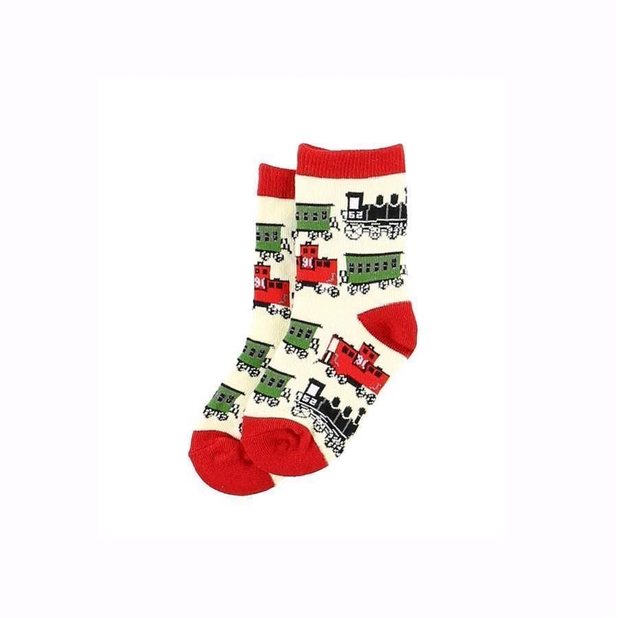 LazyOne Boys Train Kids Socks