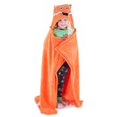 LazyOne Hooded Critter Fleece Blanket Fox with a Tail