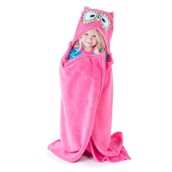 LazyOne Hooded Critter Fleece Blanket Owl