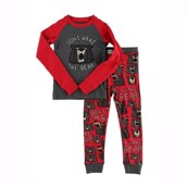 LazyOne Don't wake the Bear Kids PJ Set Long Sleeve