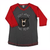 LazyOne Unisex Don't wake the Bear PJ Tall T Shirt
