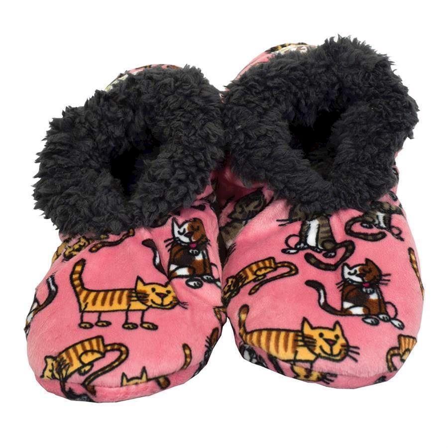 Cat Nap Fuzzy Feet Slippers, Adult Small/Medium