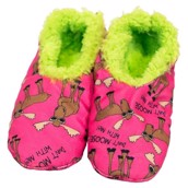 LazyOne Dont Moose with Me Fuzzy Feet Slippers
